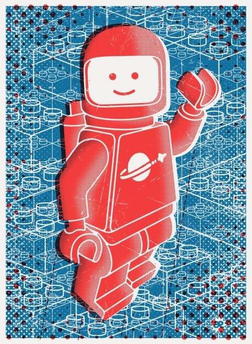 laughingsquid:  Hello Spaceboy Art Print by Andreas Ekberg  AWESOME!