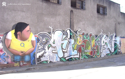 rhin0s3x:  Graffiti Chile by K.E.L.P. on Flickr.