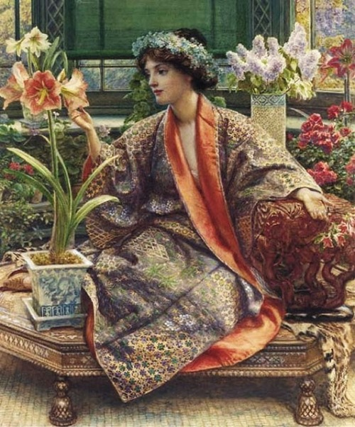 the-vintage-dress:   Hot-House Flower - Edward John Poynter..