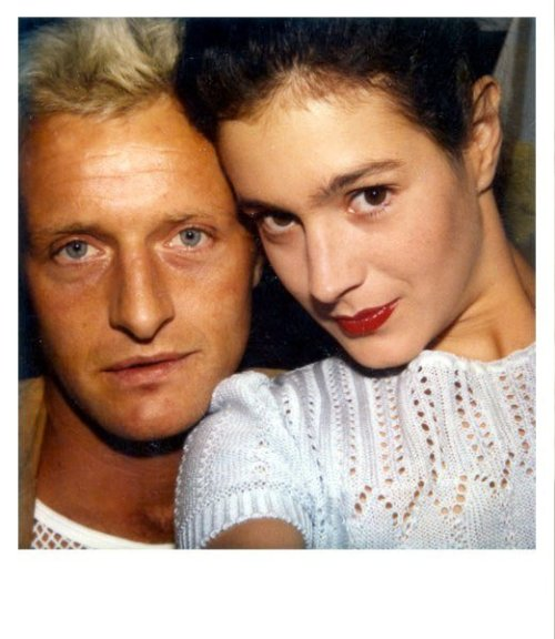 Rutger Hauer and Sean Young on the set of Blade Runner by Ridley Scott.