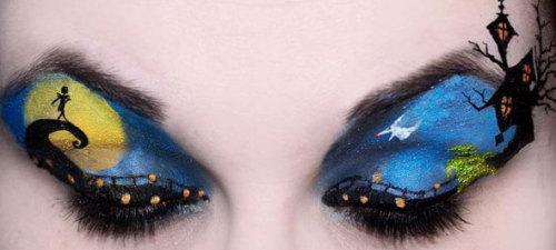 "That's Magic! Disney Movie Inspired Eye Makeup ""The Nightmare Before Christmas"""