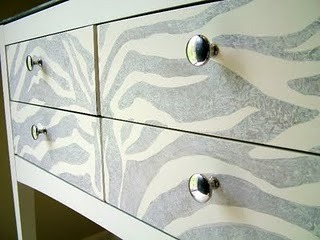 Love this furniture makeover with zebra print from {Salvage Savvy}