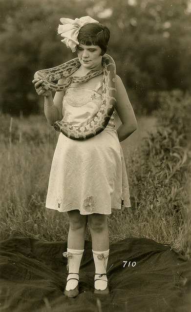 The Snake Charmer by WonderfullyStrange on Flickr.more great tin types over at their Flickr account.