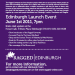 Ragged University: Edinburgh Launch7 - 11pm, Wednesday 1st June Bristo Hall, upstairs at the Forest  The Ragged University is a free education project which aims to set up events where people can share their knowledge and passion for a subject with others in a friendly, informal environment. Someone who is passionate about a subject introduces a talk they are keen to share, with excerpts of free internet knowledge resources and accredited lectures from universities around the world. All this happens in a café, pub or any innately social space. This has been brought together by a core team people distributed over Edinburgh, London, Manchester and Glasgow.  At the event • Short Introduction of the Ragged University • Acoustic Music by The Henry Ibbs Band • Sleep and the Exercise Theory of Relativity by Mike McInnes • Break for 30 minutes for coffee, cakes, food and conversation • Short Film making and the Long Tale by Paul Bruce • Film screenings of Paul Bruces work  For more information, get in contact with our Edinburgh Team alex@raggeduniversity.com or visit www.ragged-online.com
