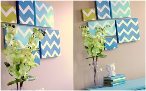 Spruce up a wall with this Chevron Shoe Box tutorial from {Spunky Junky}