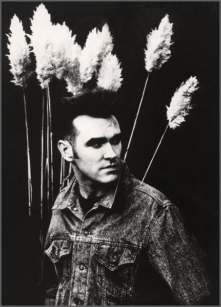 "Morrissey photographed by Anton Corbijn in the grounds of Hook End Manor 03/1990 This photo has been used for the cover of the single: ""November spawned me a monster"""