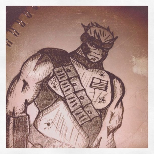 Original character sketch. ( taken with Instagram )