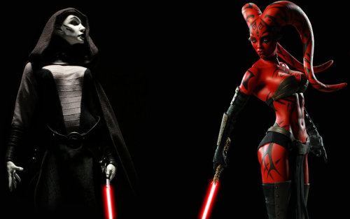 walkingontheskywithasaber:  Ladies of Darkness by Darth-Animus