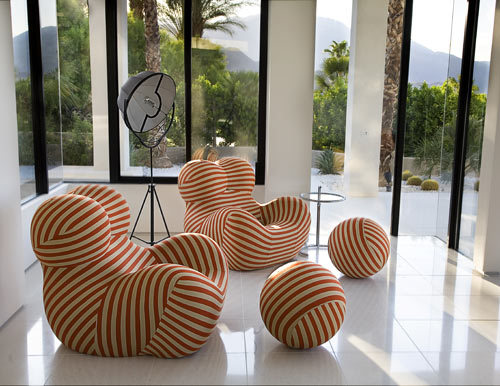 love these gaetano pesce classics! via lerecherche:  Two Up Series chairs by B&B Italia- I love the very whimsical and tongue-in-cheek design… wonderful…