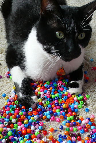 """I'll teach you how to make bracelets, mom!"" Photo by creatingtreasures"