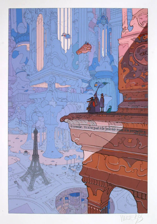 theshipthatflew:  Paris - Moebius  Source: Editions Toth, via anarchycomitecture