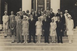"""Photograph of the Auburn High School class of 1929. From the Carolyn Jenkins Collection, RG 93 in the Auburn University Special Collections and Archives."""