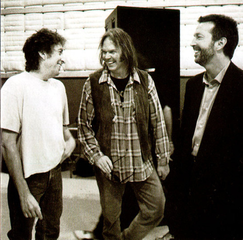 Bob Dylan, Neil Young and Eric Clapton