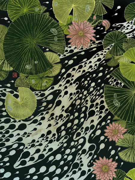 Yuko Shimuzu - FROGFOLIO calendar for Dellas Graphics (2007) [Tumblr Monday with septagonstudios]