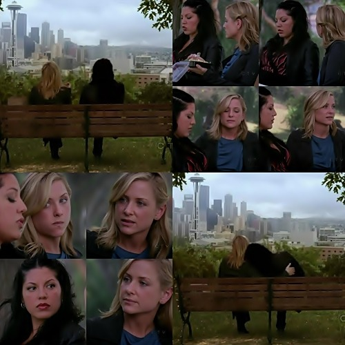 "Calzona - season 6 moments / Story of true love (MFEO) / 6x04 / ""Tainted Obligation"" Arizona: You know,I hate when people who don't live here say that Seattle weather sucks.Those people suck.Callie: Ooh.I wanted to show yousomething.I made a list.Arizona: Hmm.You made a list?Callie: Yeah,to read to the chief.50 reasons why you should hire me as an attending.Okay,number one:I built a man's bones out of titanium rods.Two:what I lack in experience,I make up for in raw talent.Three:I can go seven hours in the O.R without even taking a pee break.Four…What are you doing?Arizona: I'm going back to the hospital.Callie: Uh,this is important.Arizona: I lost my favorite scrub nurse yesterday.Anne.She's a single mother.She's supporting three kids,and now she's out of a job.And this morning,a 10 month old hemorrhaged while I was deep in her chest,and I didn't have my favorite scrub nurse.I had to actually look up and ask for a mesh wrap because the new nurse didn't know me.Anne knew all my moves before I even made 'em.And it felt terrible to be in the O.R. without her.I was really looking forward to spending 30 minutes in the park with my girlfriend,'cause this merger thing?It's important to all of us.Callie: Sorry.I've been…Just…Sorry.Arizona: He'll say yes or he'll say no.And then we'll know.Callie: Okay."