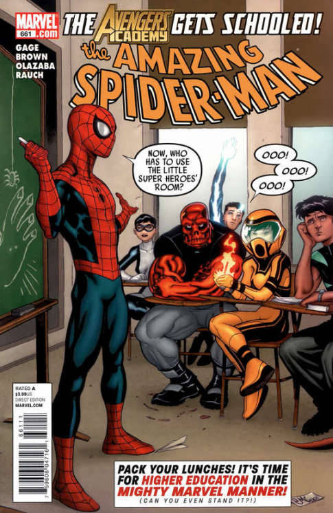 Amazing Spider-Man #661, July 2011, written by Christos Gage and Paul Benjamin, penciled by Reilly Brown and Javier Pulido