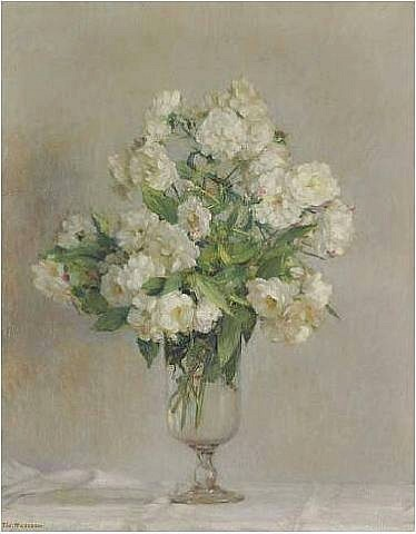 Pierre Félix Fix-Masseau Roses in a Vase 1910