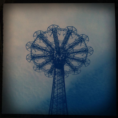The Parachute Jump tower, aka The Eiffel Tower of Brooklyn, in Coney Island.