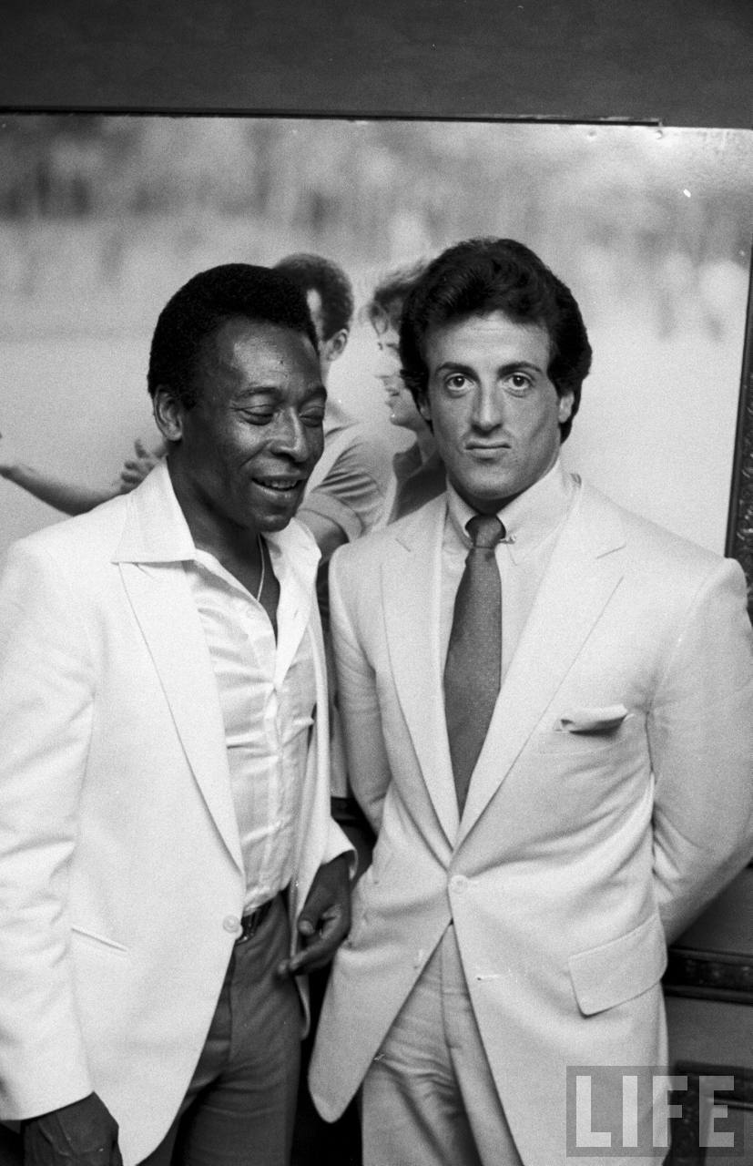 Pelé and Sylvester Stallone (submitted by Billy)