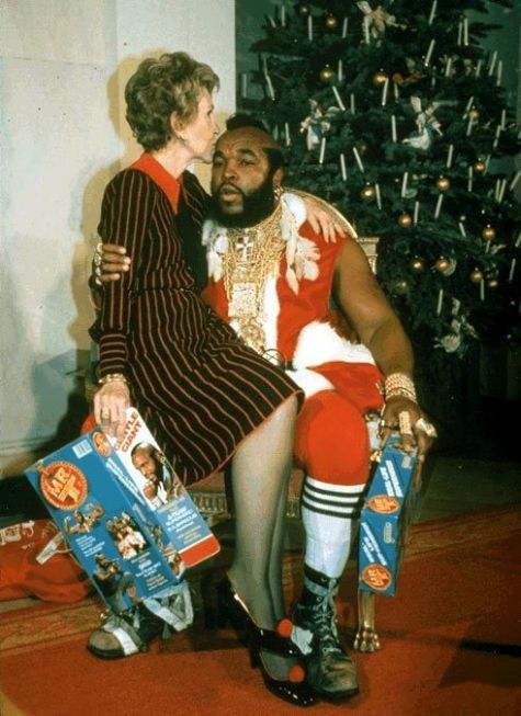 Nancy Reagan and Mr. T (submitted by kidrocket and rsethib)