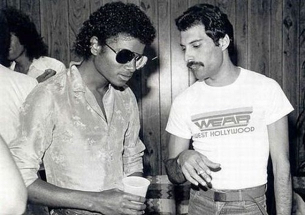 Michael Jackson and Freddie Mercury