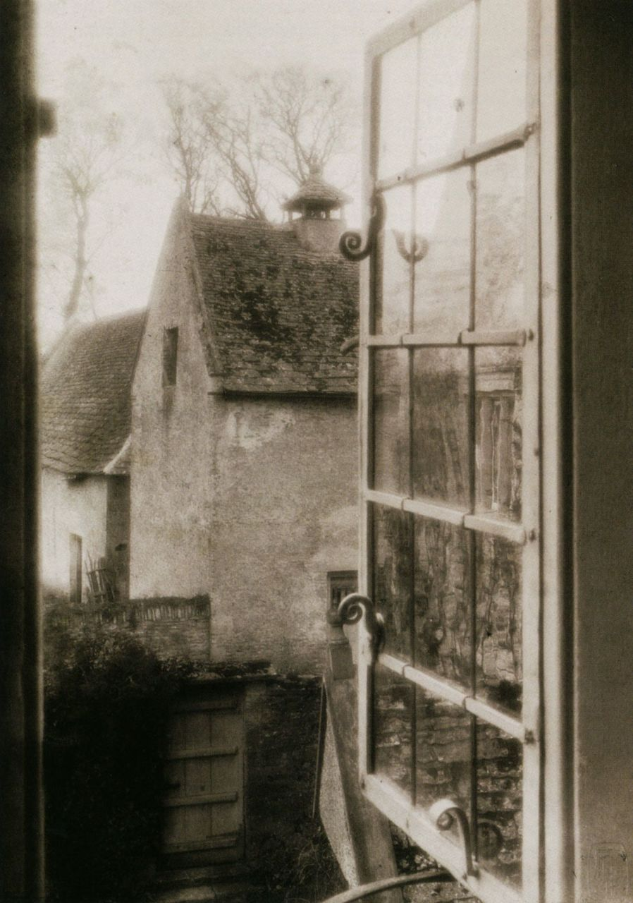 liquidnight:  Frederick H. Evans View from the Tapestry Room Kelmscott Manor, 1896 Platinum print From Impressionist Camera: Pictorial Photography in Europe, 1888-1918