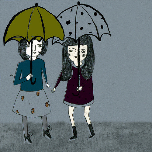Grey day buddies (by raisin heart)