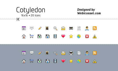 Cotyledon Mini Icons Free for Download | Web Resources | WebAppers