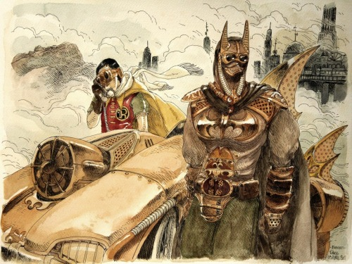 Steampunk Batman par Boulet (Avril 2011)