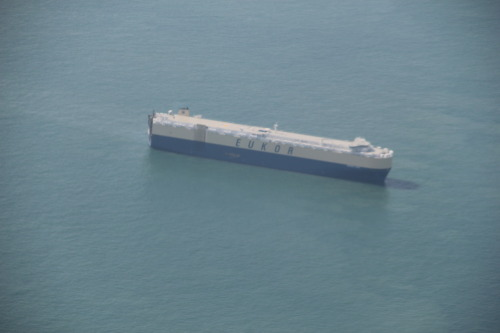 An Eukor Car Carrier. Spotted off Singapore waters.