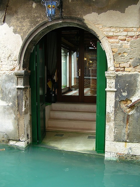 sunsurfer:  Watery Entryway, Venice, Italy  photo by juanmiz