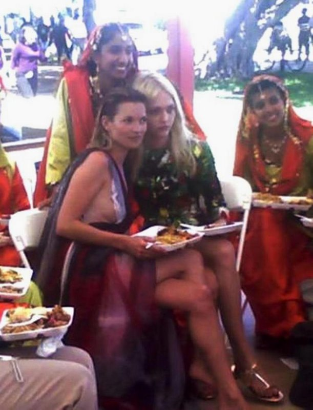Kate Moss, Sasha Pivovarova and Hindu women <3333333333