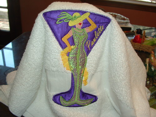 I need to embroider some more towels this week.  A couple of my girls are having birthdays.  I use the same mermaid each time but the background applique changes.  Hmmm.  Have a great Memorial Day everyone:>)