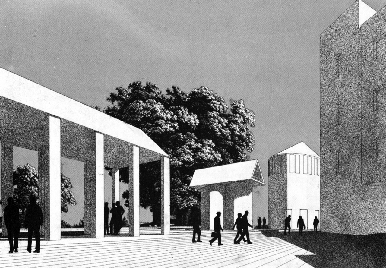 archiveofaffinities:  Aldo Rossi, Piazza, Competition Design, Sannazzaro de' Burgondi, Italy, 1967