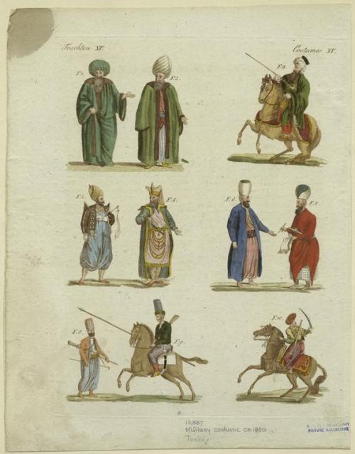 Military Costumes of Turkey, 1800.