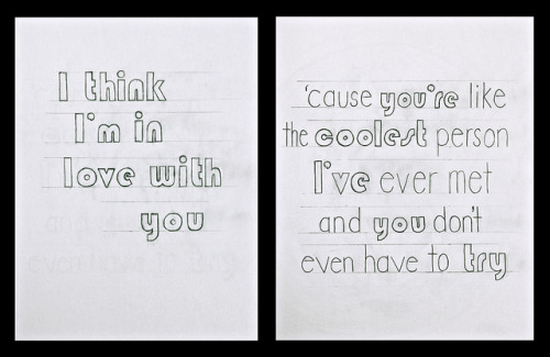 photoquoteography:  Juno (2007) Hand drawn lettering.