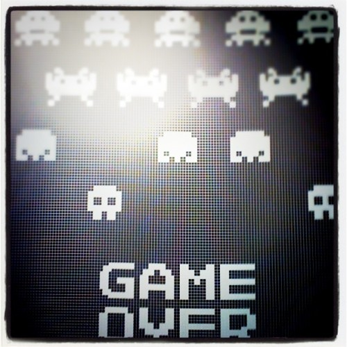 Love my Space Invaders poster (Taken with instagram)