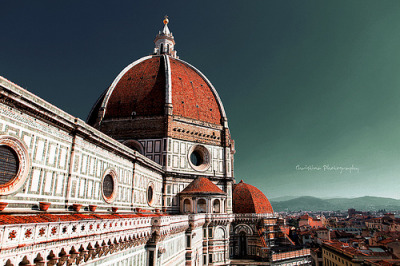 The city in old Orange Color | Cattedrale Santa Maria del Fiore, Florence, Tuscany, Italy © KrisSkyWalker