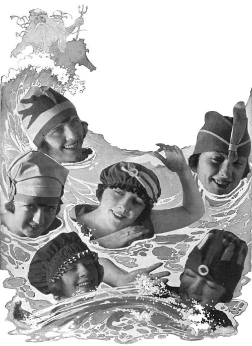 Bathing caps, 1919