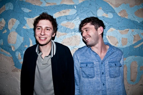 Port St Willow aka Nick Principe and Peter Silberman from The Antlers outside Miner Street Studios after they performed for a small crowd of 30 people. 04/15/2011 Philadelphia, PA