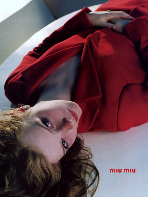 Sara Daykin photographed by John Akehurst for Miu Miu Fall 1998