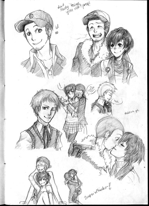 alexisowa:  First Persona 3 page!!Filled with Junpei, Minako and random Akihiko ( I RUINED HIM SHUN ME ) Also, YES I sorta ship JunpeixMinako SO FAR (haven't beaten the game yet SO I dunno if it makes any sense but HEY HE'S CUTE I CAN'T HELP IT)  Aw, you didn't ruin Lord Akihiko Prince of Pancakes at all :'DAnd uh, Junpei x FemC doesn't make sense at all, but he IS pretty amazing in his own right :3 You'll see how much he matures and becomes a badass as you keep playing :'D