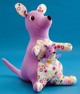 pattern: kangaroo softie with joey finger puppet tutorial via Womans Day