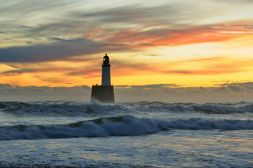 theworldwelivein:  Rattray Head sunrise, Aberdeenshire, Scotland (by iancowe)
