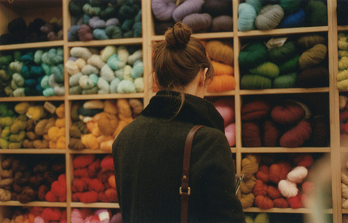 accompanied narim, for shopping her wool supplies. i want to learn sewing too.