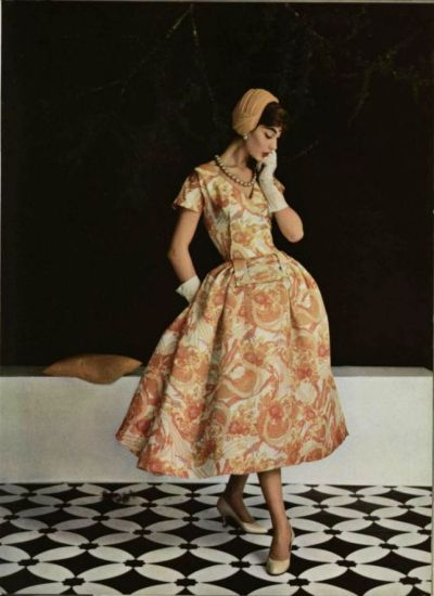 jeanjeanie61:  Jean Patou Dress - 1955 L'Officiel De La Mode - 395-396