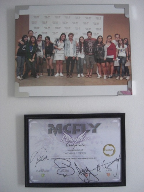 My wall looks more beautiful now :D @SuperCityHQ @tommcfly @Dannymcfly @dougiemcfly @mcflyharry