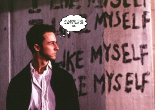 In photo: The Narrator, Fight Club (1999)