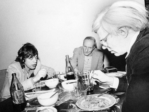 MICK JAGGER, WILLIAM BURROUGHS et ANDY WARHOL