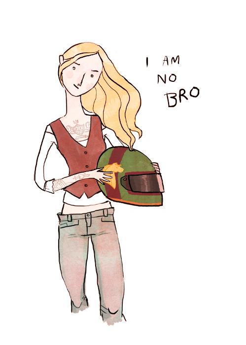 gingerhaze:  Lots of people wanted to see Eowyn! Of course the Rohirrim are a biker gang.